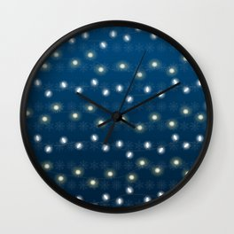 Christmas Light Blue Wall Clock