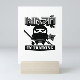 Ninja In Training Mini Art Print