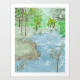 Peace Stream Art Print