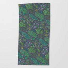 Nugs in Green Beach Towel