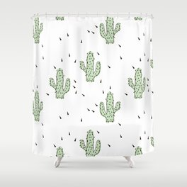 Cactuses abstract modern print simple Shower Curtain