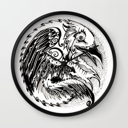 Crow Sun Wall Clock