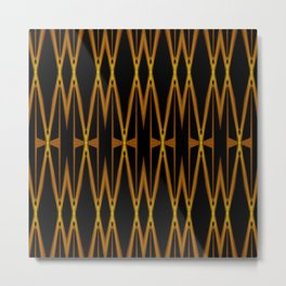 Crisscross Lattice Pattern Metal Print