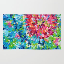 Color Burst Finger Painting Rug