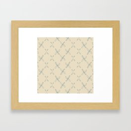 Abstract Astral Pattern in Yellow & Green Framed Art Print