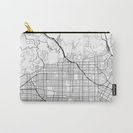 Hollywood California Street Map Minimal Carry-All Pouch