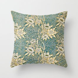 William Morris Tulip and Willow Pattern Throw Pillow