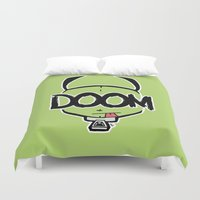 doom Duvet Covers featuring DOOM by Oddworld Art