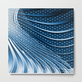 Phantasie in Blau 1 Metal Print