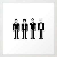 weezer Art Prints featuring Weezer by Band Land