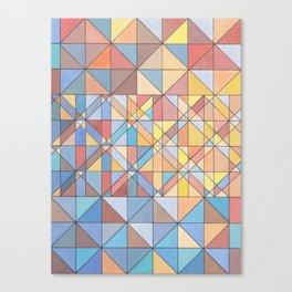 Triangle Pattern no.16 Pastels Canvas Print