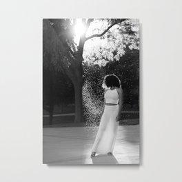 Woman in sunlight Metal Print