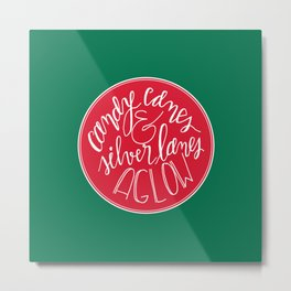 Candy Canes and Silver Lanes Metal Print