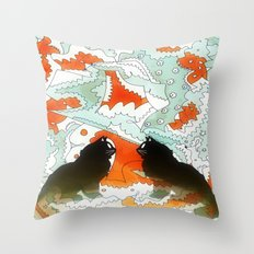Cats Collaboration Throw Pillow
