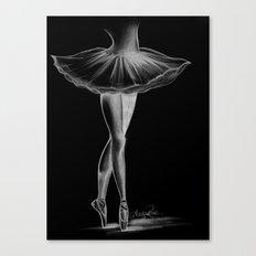 Ballerina - Black and White - Ashley Rose Canvas Print