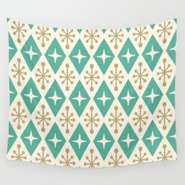 Mid Century Modern Atomic Triangle Pattern 105 Wall Tapestry