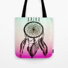 11:11 Eleven Eleven Spiritual Dream Catcher Tote Bag