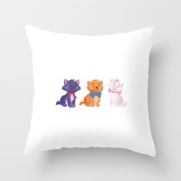 Once upon a time Aristocats Throw Pillow
