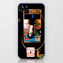 Payphone in Boston iPhone Case
