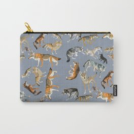 Eurasian wolves pattern Carry-All Pouch