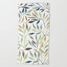 Leaves 5 Beach Towel