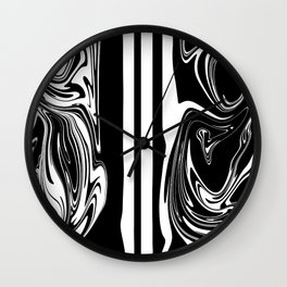 Stripes, distorted 5 Wall Clock