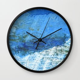 Corn flower blue colorful watercolor pattern Wall Clock