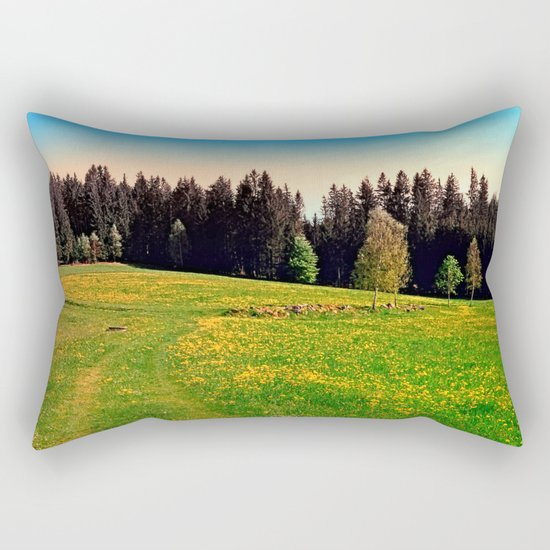 Outdoors in sunny spring Rectangular Pillow