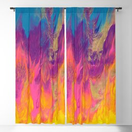 Rainbow Camp Fire Abstract Painting Blackout Curtain