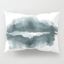 Mountain Reflections on a Lake in Blue Pillow Sham
