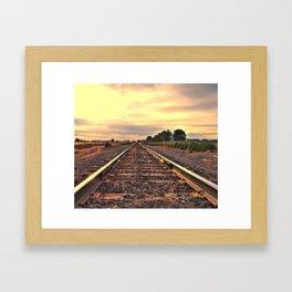 Sunrise Tracking Framed Art Print
