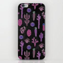 Cactus Pattern On Chalkboard iPhone Skin