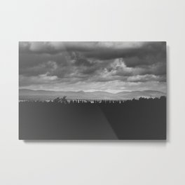Scenic View of Mountains in Quebec Metal Print