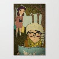 moonrise kingdom Canvas Prints featuring Moonrise Kingdom by Mai Ly Degnan