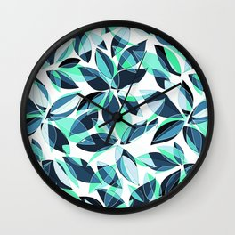 Abstract Leaves Wall Clock