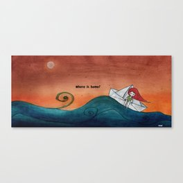 Where is home? Canvas Print