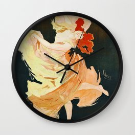 Vintage French poster - Jules Cheret - La Loie Fuller Wall Clock