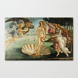 The Birth of Venus painting Canvas Print