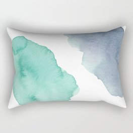 Watercolor Drops Rectangular Pillow