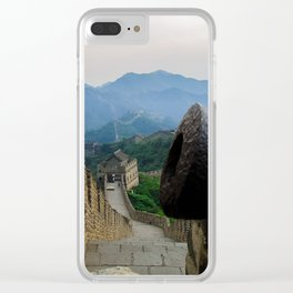 Cannon at the Great Wall of China Clear iPhone Case