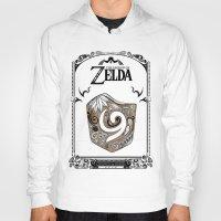 the legend of zelda Hoodies featuring Zelda legend - Kokiri shield by Art & Be