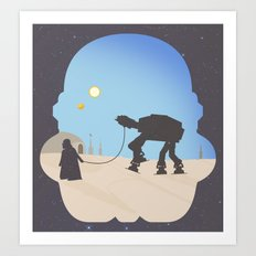 darth Pet-Pet Art Print