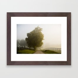 Foggy Scenic Byway Framed Art Print