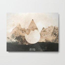 Longitude/Latitude Metal Print