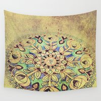 golden Wall Tapestries featuring Golden by Maggie Green