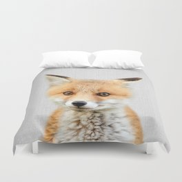 Baby Fox - Colorful Duvet Cover