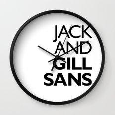Jack and Gill Sans Wall Clock