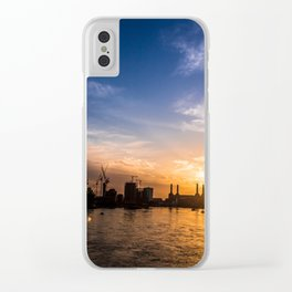Twilight Skyline Clear iPhone Case