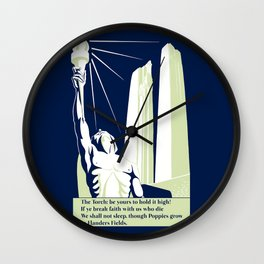 The Torch, in Flanders Fields Wall Clock