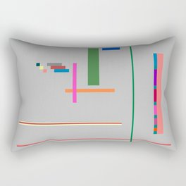 A Few Colors with Lines and Rectangles and Squares Rectangular Pillow